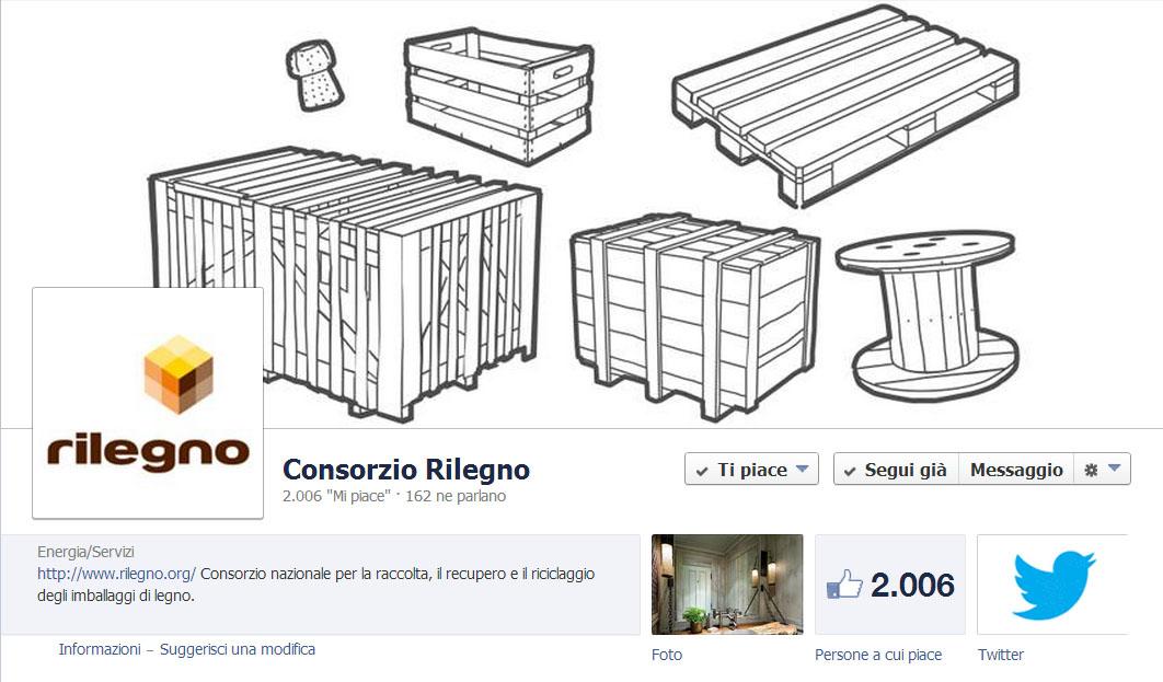 La pagina Facebook del Consorzio Rilegno già oltre i 2000 like