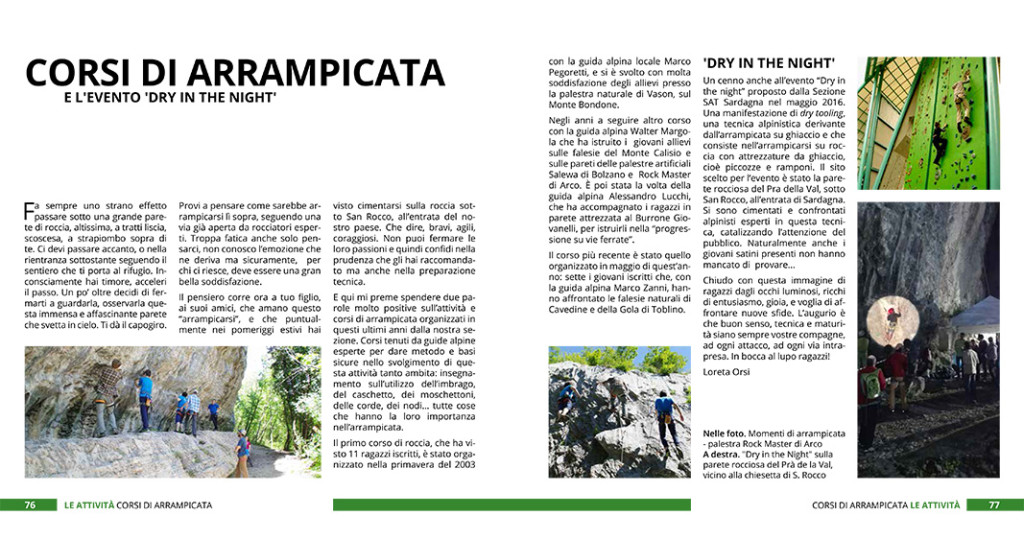 La SAT di Sardagna festeggia i primi 50 anni di attività alpinistica con un libro